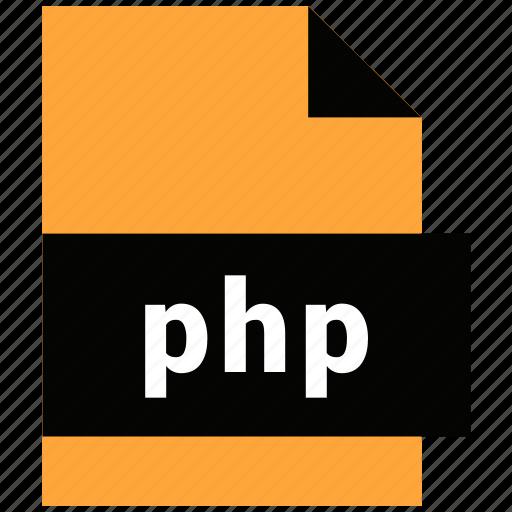 file, format, php, website file, website file format icon