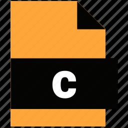 c program file, extension, file, file extension, website file, website file format icon