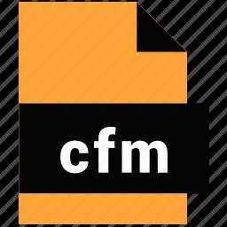 cfm, website file, website file format icon