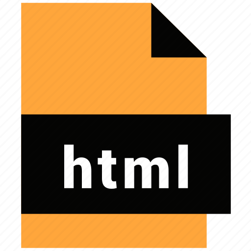extension, file, html, name, website file, website file format icon