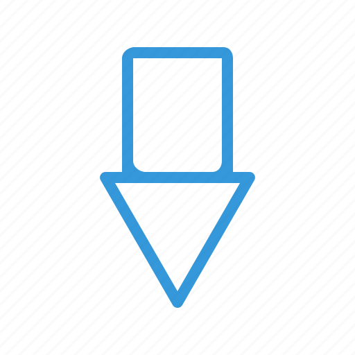 arrow, dirrection, down, forward icon