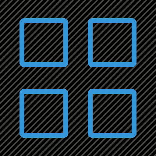 application, grid, interface, list, menu, navigation, panel, shape, sidemenu, squares, structure, thumbnails, tiles, window icon