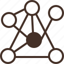 chart, connection, graph, relationship icon