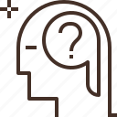 brain, head, human, intelligence icon