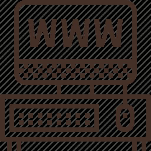 destop, pc, version, web, website icon