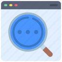 searching, browser, webpage, website, search, loupe icon