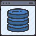 database, browser, webpage, website, data