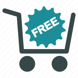 award, cart, check out, free, prize, shopping, success icon