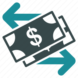 business, cash, currency, dollar, exchange, finance, payment icon