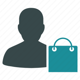 bag, buyer, client, customer, ecommerce, shopping, user icon