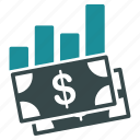 business, capital, dollar, finance, gains, money, payment icon
