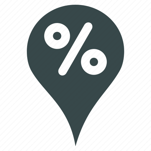 discount, globe, gps, map marker, pin, pointer, sale icon