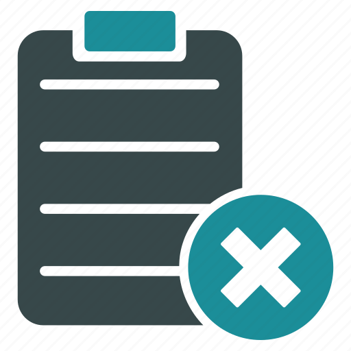 checklist, form, items, list, menu, reject, tasks icon
