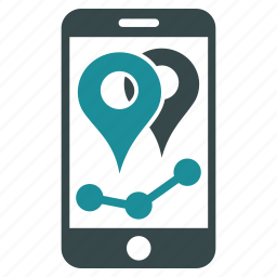 chart, geotargeting, location, map markers, navigation, pointer, position icon