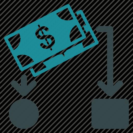 business report, cash flow, cashflow, diagram, financial chart, flowchart, scheme icon