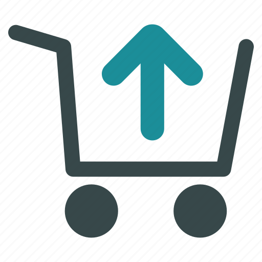 arrow up, basket, cart, clear, product, remove item, shopping icon