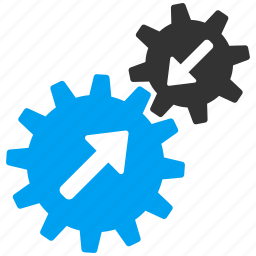 automatic connection, business tools, connect gears, gear, integration process, system settings icon