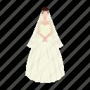 bride, dress, girl, newlyweds, wedding icon