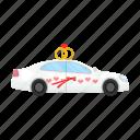 car, decoration, transportation, wedding icon
