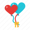 balloon, decoration, heart, love, romance, wedding icon