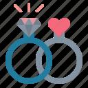 diamond, jewelry, ring, wedding icon