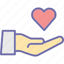 hand giving heart, hand holding, heart, heart care, love icon