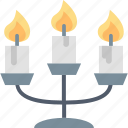 candelabrum, candles, candlestick, celebration, decoration, festivity, white icon