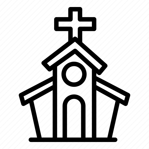 building, chapel, church, estate, real estate, wedding icon