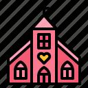 church, location, marriage, wedding