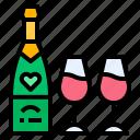 champange, drink, drinking, wine icon