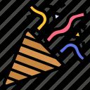 congratulation, firecracker, firework, popper icon