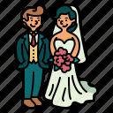 wedding, romantic, love, couple, marriage, groom, bride
