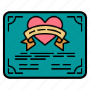 contract, signature, heart, love, romance, certificate, wedding