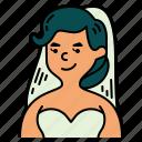 wedding, bride, dress, marriage, woman, love, romance