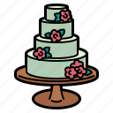 wedding, cake, bakery, heart, food, valentines, dessert