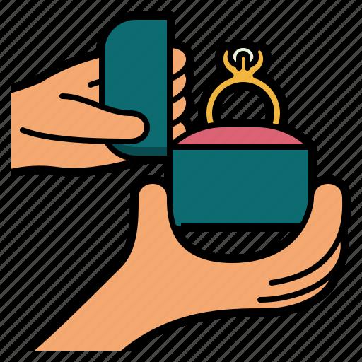 Wedding, diamond, ring, jewel, jewelery, marriage, hand icon - Download on Iconfinder