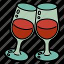 wine, glass, celebration, beverage, alcohol, wedding, romantic