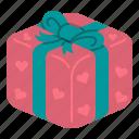 gift, heart, surprise, box, birthday, valentines, celebration