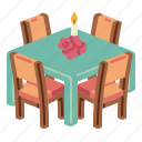 table, cloth, meal, food, restaurant, chair, furniture