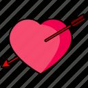 cupid, love, arrow, heart