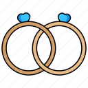 wedding, rings, couple, marriage
