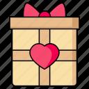 gift, present, wedding, gift box