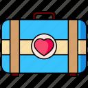 briefcase, suitcase, honeymoon, bag