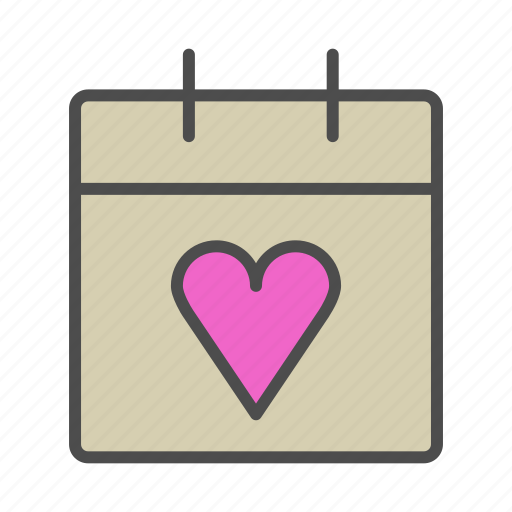 calender, day, love, valentine, wedding icon
