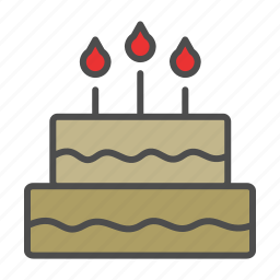 cake, chocolate, wedding icon