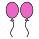 ballons, valentine, wedding icon