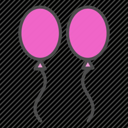 ballons, valentine, wedding icon