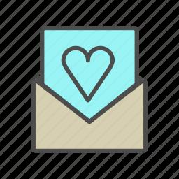 envelope, invitation, love, valentine, wedding icon
