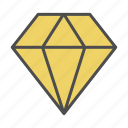 diamond, gift, romantic, wedding icon