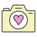 camera, romantic, valentine, video, wedding icon
